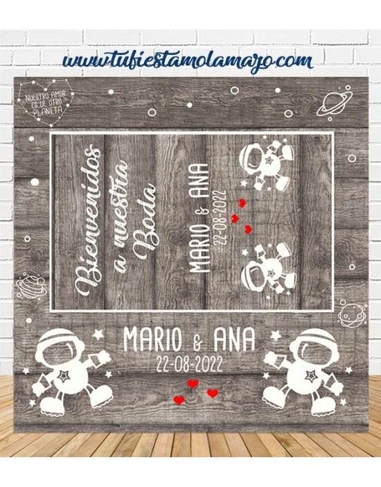 Photocall cartel boda