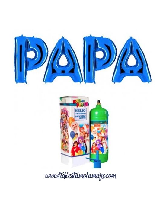 Pack Feliz Día Papa Azul con Helio