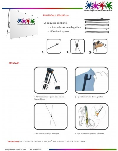 Diseño photocall cumpleaños Calavera