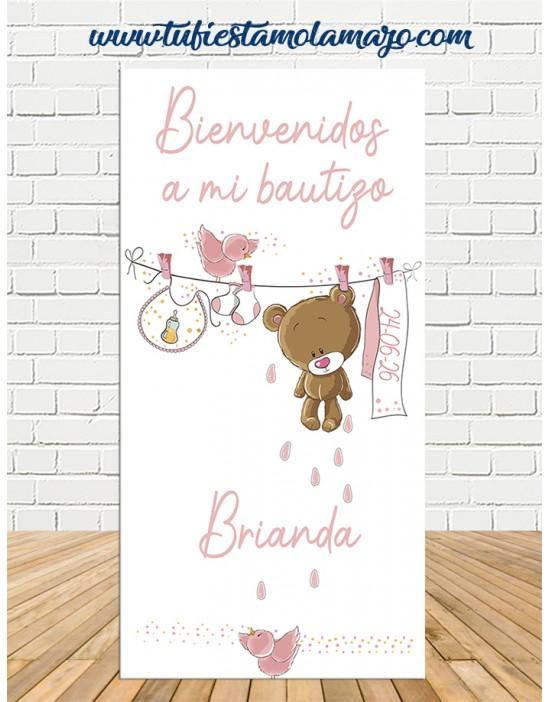 Cartel Bienvenida de Bautizo