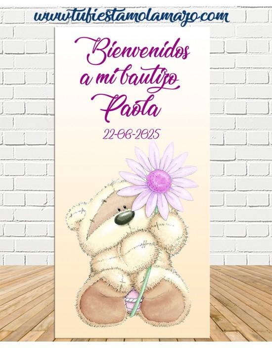 Cartel Bienvenida Bautizo