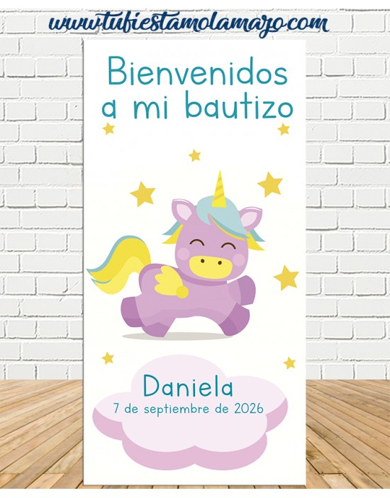 Cartel Bienvenida de Ángel Bautizo