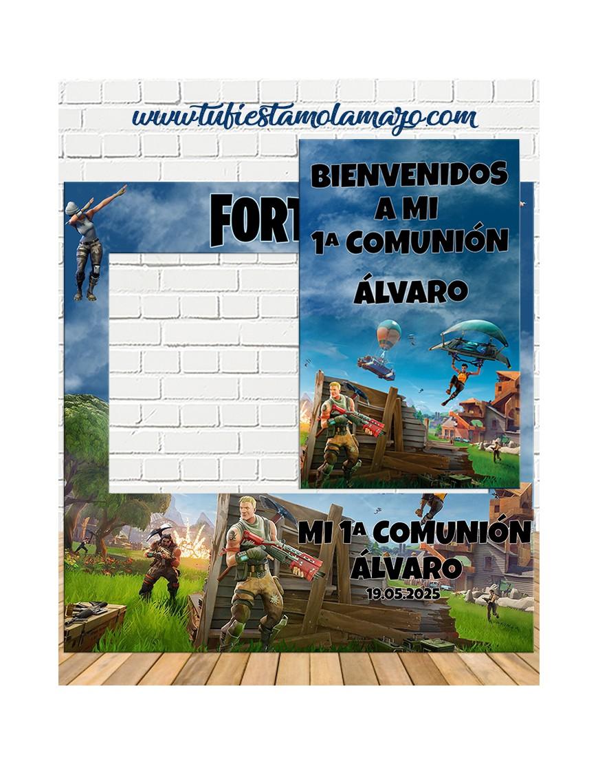 Photocall Comunión fortnite