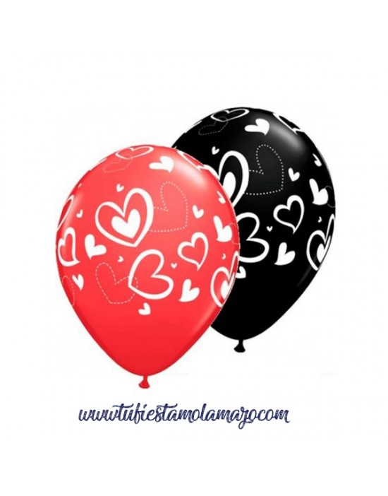 Globos de corazones Qualatex