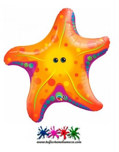 1 x Globo de foil de estrella de mar 76cm