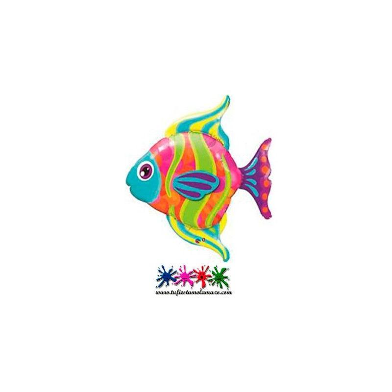 1 x Globo de foil de pez 109 cm