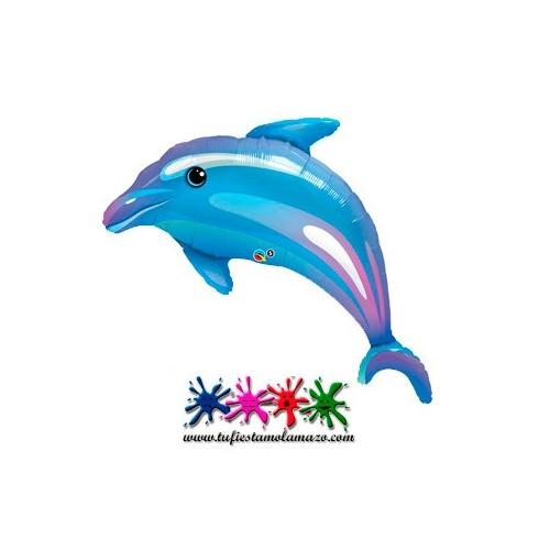 1 x Globo de foil de delfin 36 cm