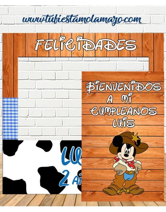 Photocall y Cartel de Mickey Cowboy
