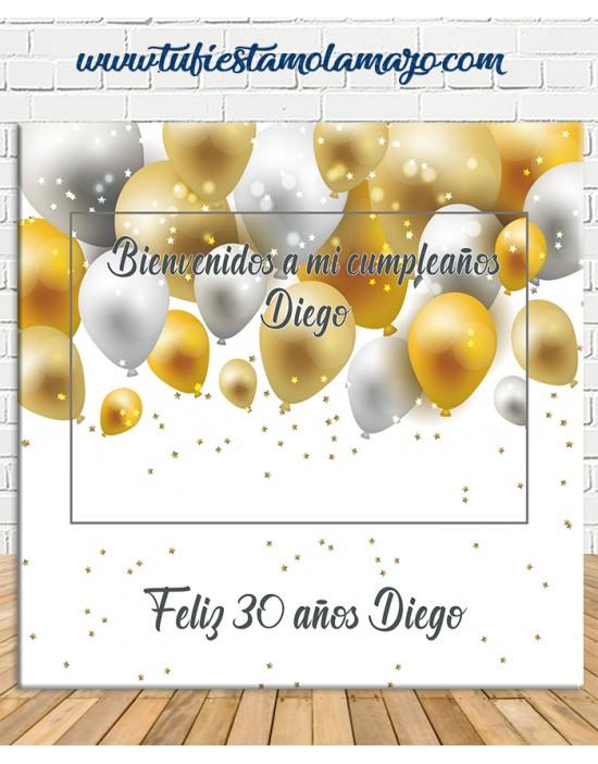 Photocall de Cumpleaños Globos