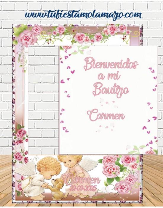 Photocall y cartel Bautizo de Ángeles