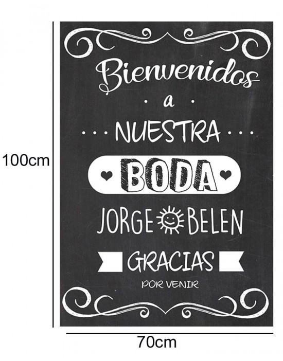 Cartel Bienvenida de Boda...