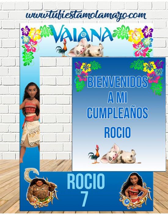 Photocall y cartel Vaiana