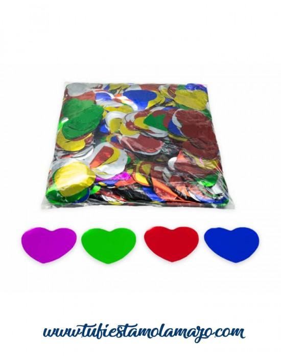 Confeti corazones