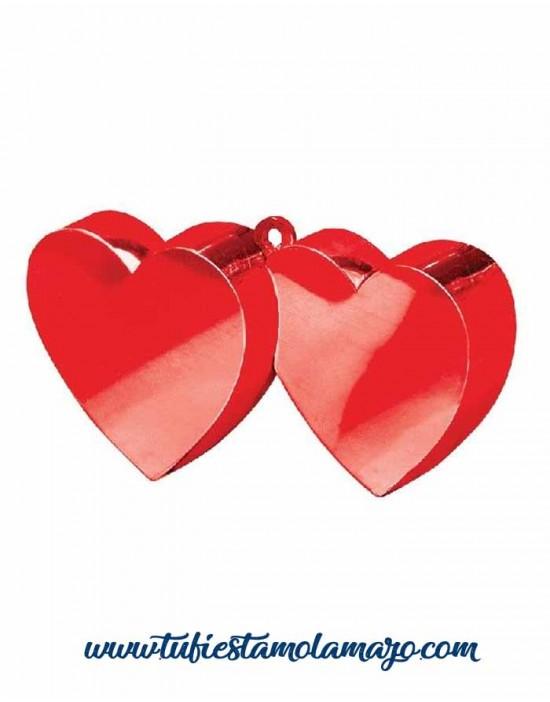 Peso corazón  globos