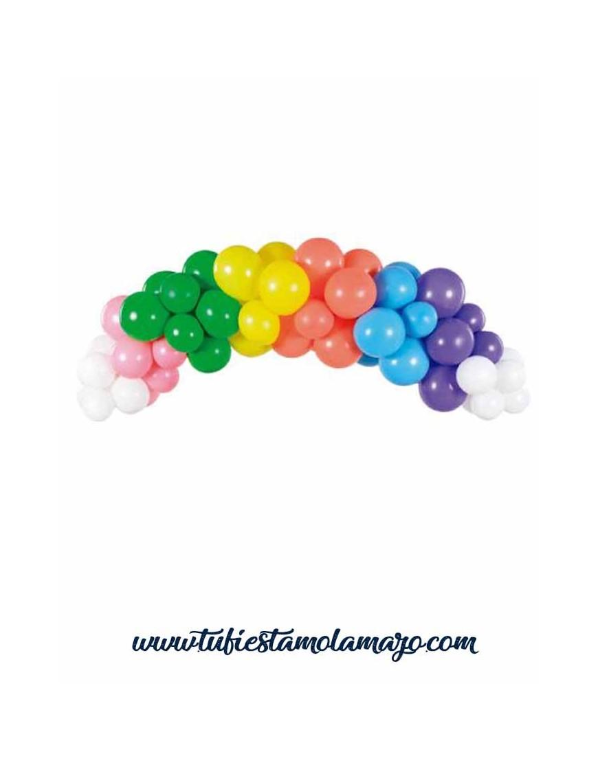 Guirnalda de Globos de colores Arcoiris de 2m