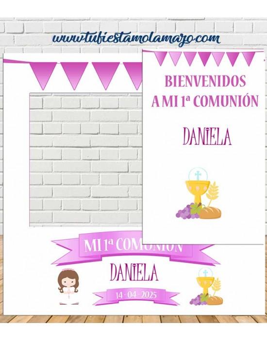 Photocall  y cartel de Comunión