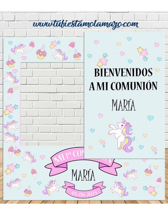 Photocall Comunión Unicornio