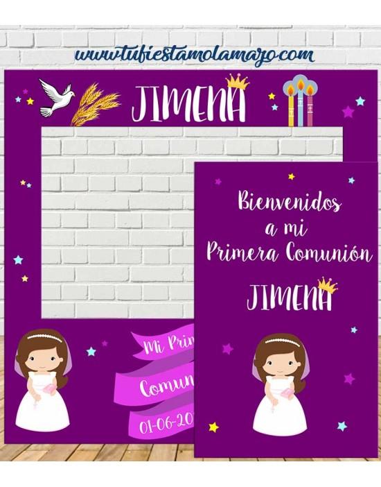 Photocall Comunión Niña