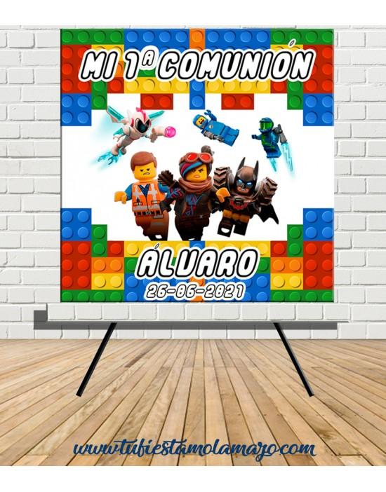 Cartel Bienvenida Lego