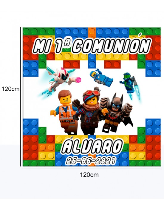 Cartel Bienvenida de Lego