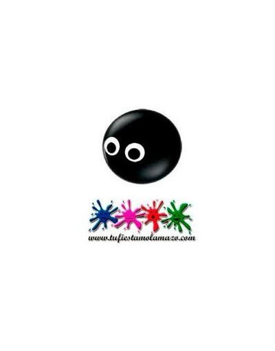 Globo de látex cabeza de araña negra