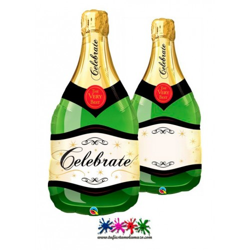 Globo Foil Botella de Champagne 99cm