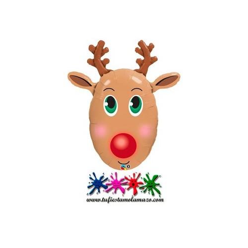 "Globo de foil del reno ""Rudolf"" de 91,44 cm"