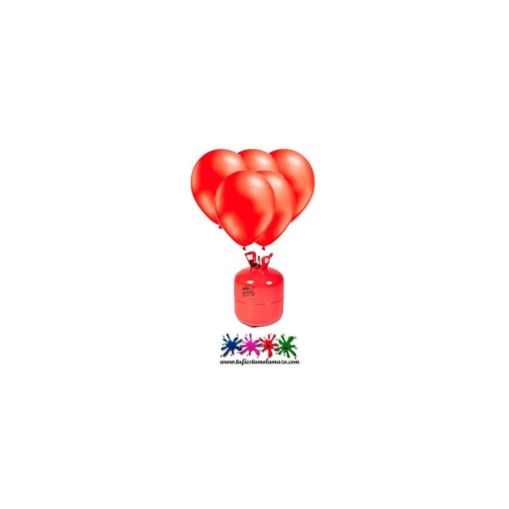 Pack 1 bombonas de helio maxi m s 50 globos rojo tu - Bombona de helio para globos ...