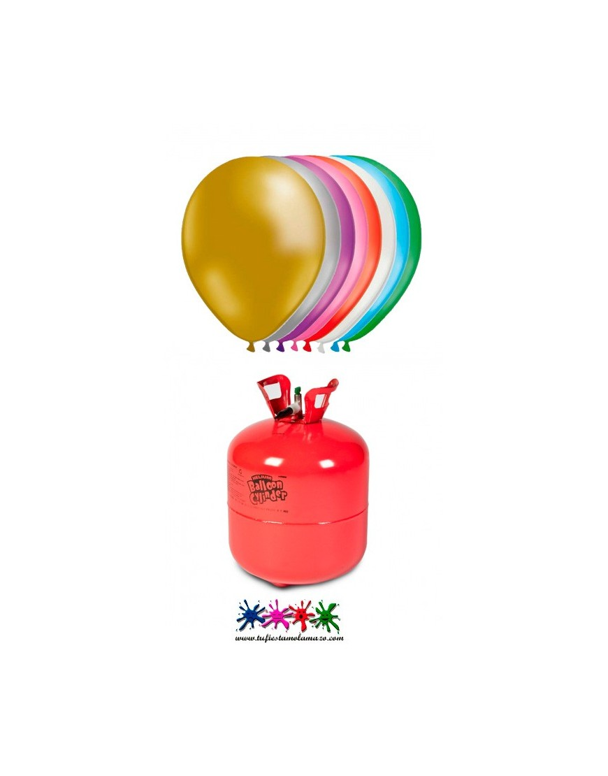 Botella helio maxi m s 50 globos metalizados tu fiesta - Botella de helio barata ...