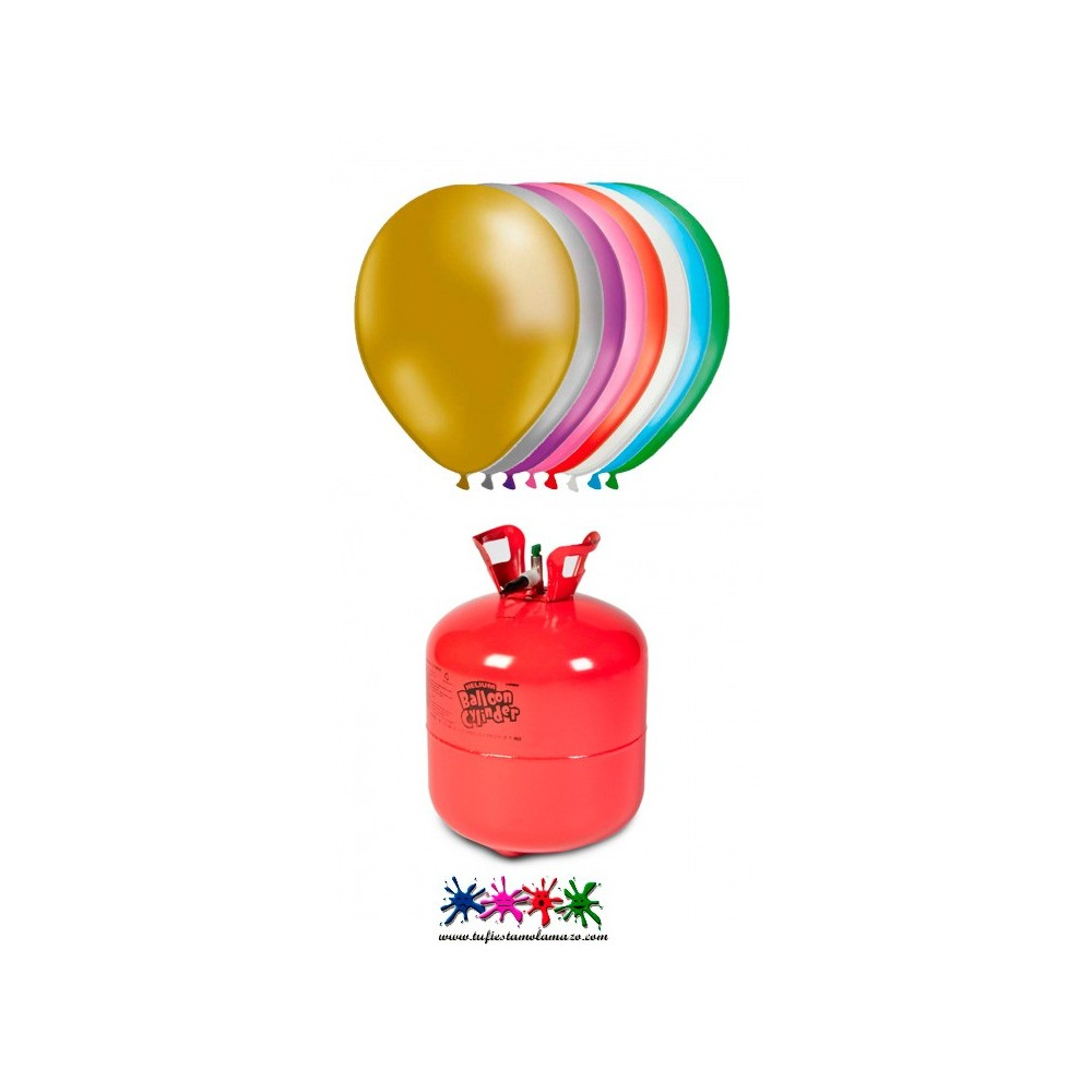 Botella helio maxi m s 50 globos metalizados tu fiesta - Bombona de helio para globos ...