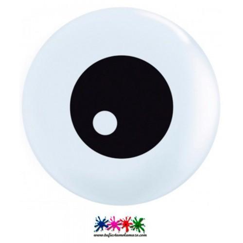 Globo de látex con forma de ojo intimidador