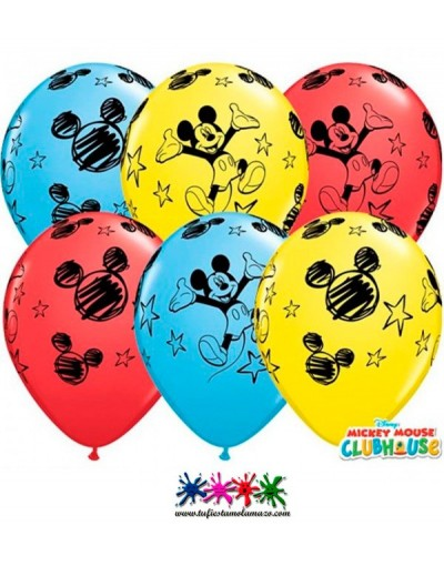 25 x Globo de látex de colores de MickeyMouse