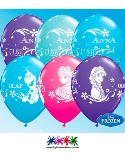 25 x Globo de látex de colores de Frozen