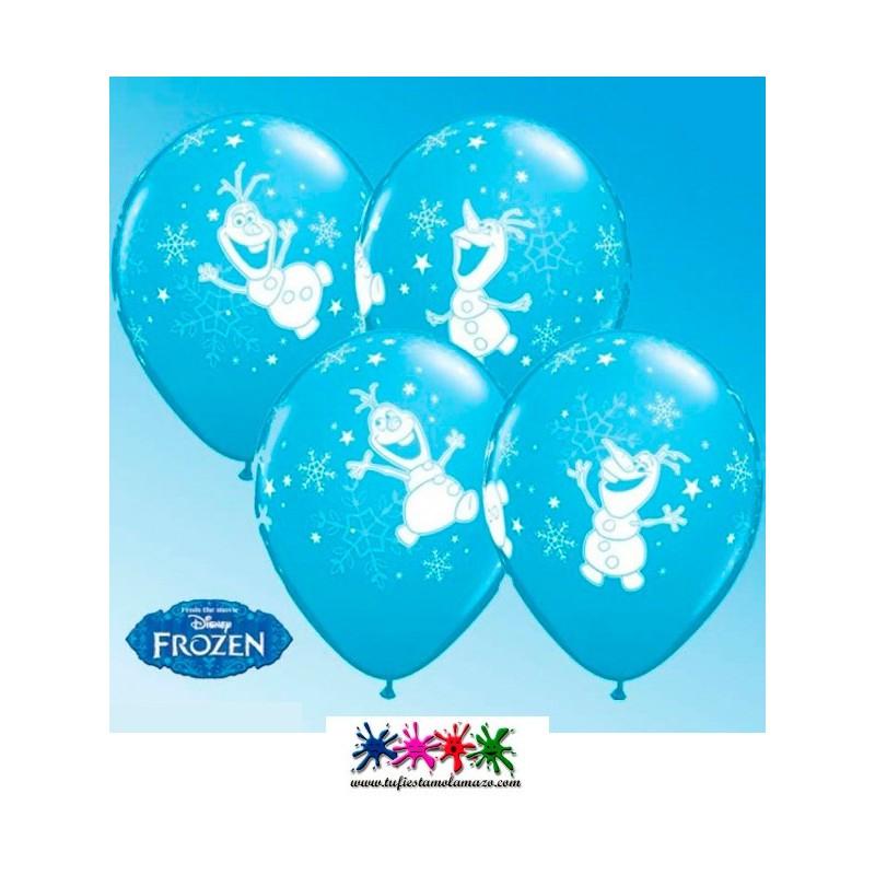 Globo de látex en azul de Olaf Bailando