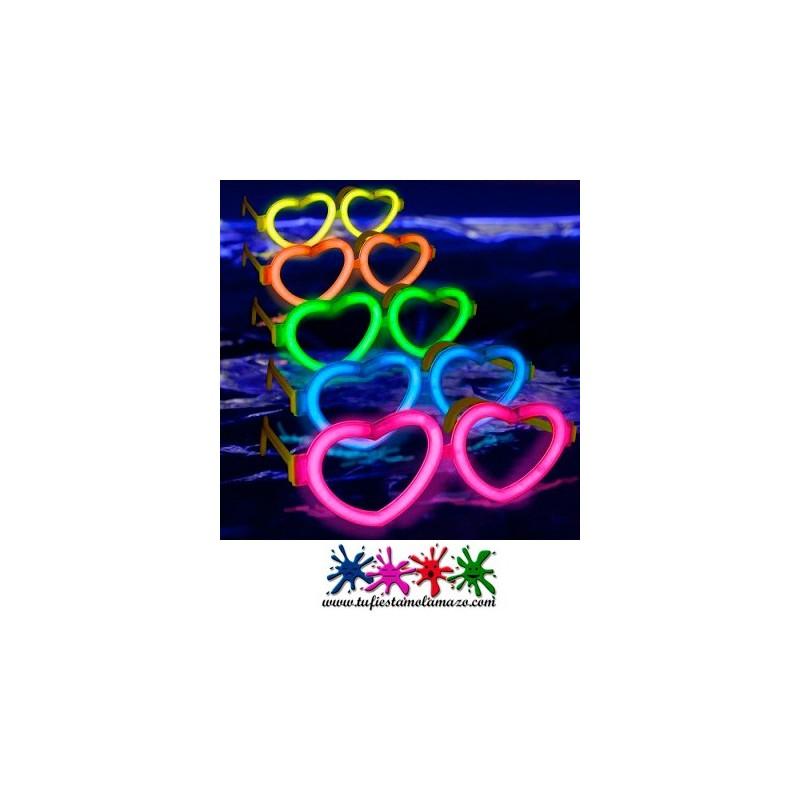 Producto luminoso, gafas de corazón