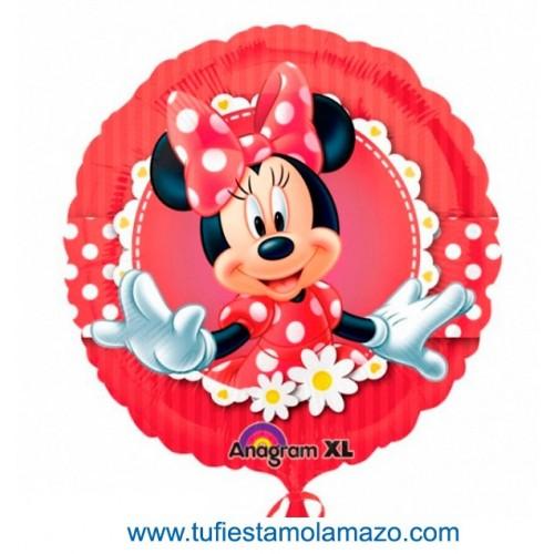 1 x Globo de foil redondo de MinnieMouse 46 cm.