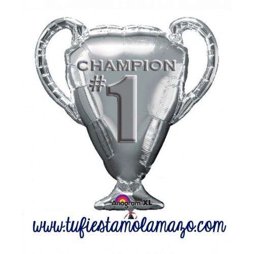 Globo de foil Trofeo de Champions 71 cm. Plateada
