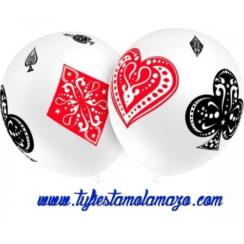 Globo de látex con dibujos poker