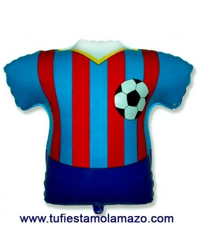 Globo de foil camiseta azul y roja