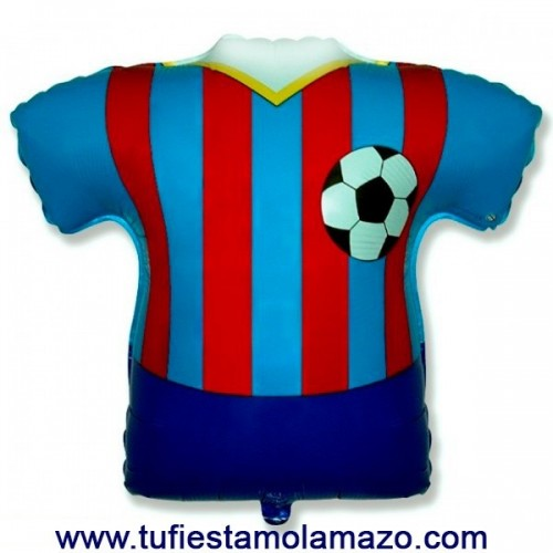 Globo de foil de camiseta azul y roja 66 x 66 cm.
