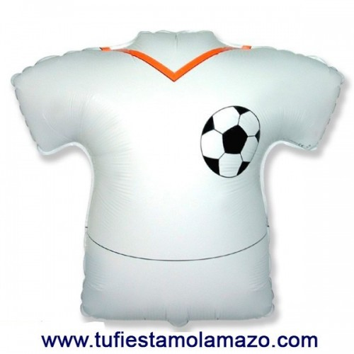 Globo de foil camiseta blanca 66 x 66 cm.