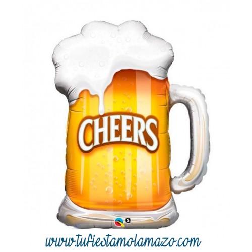 Globo de foil de jarra de cerveza