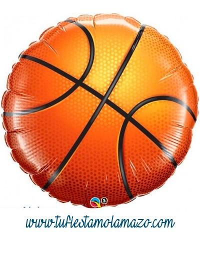 Globo de foil con forma pelota basket 91 cm.
