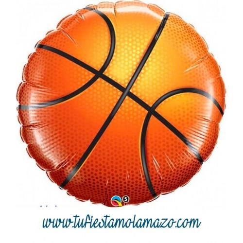 Globo de foil de pelota basket 45 cm.