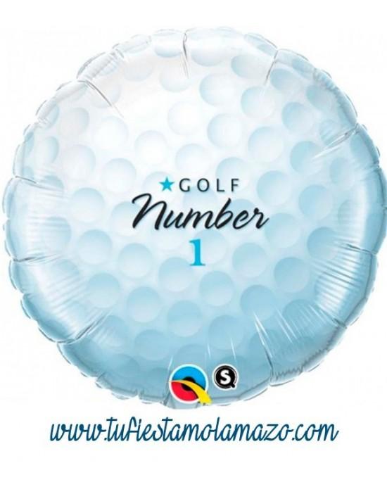 Globo de foil con forma pelota golf 45 cm.