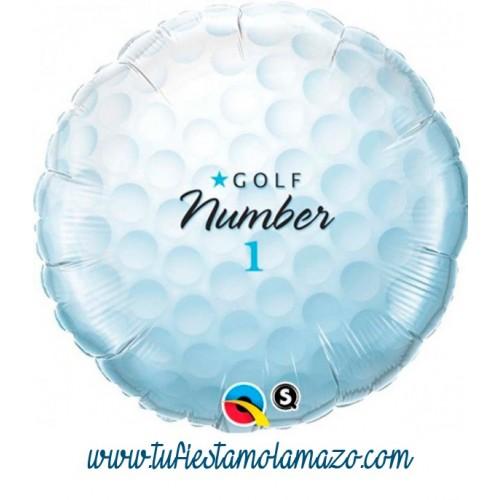 Globo de foil de pelota golf 45 cm.