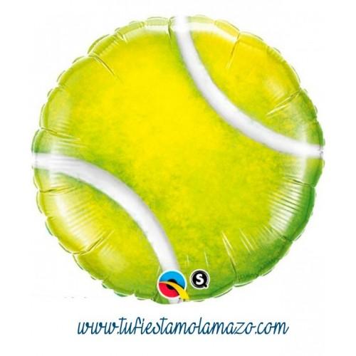Globo de foil con forma pelota de tenis 45 cm.