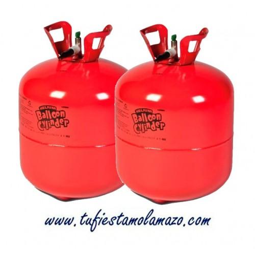 2 x botellas de helio grandes