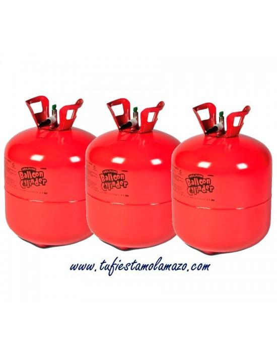 3 x Botellas de Helio Grande