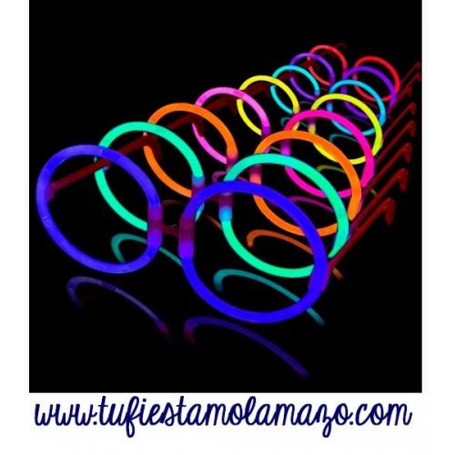 Gafas luminosas redondas colores variados